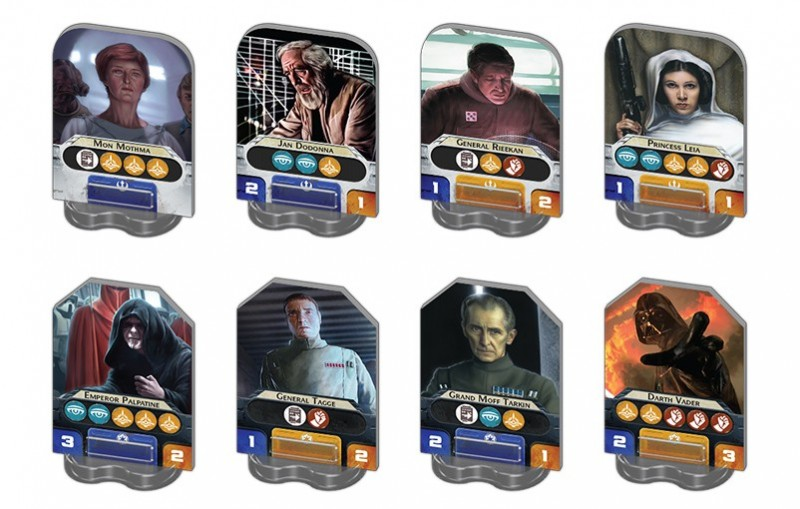 Star Wars Rebellion personnages